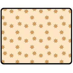Pattern Gingerbread Star Fleece Blanket (medium)