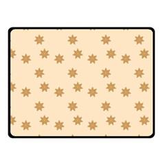 Pattern Gingerbread Star Fleece Blanket (Small)