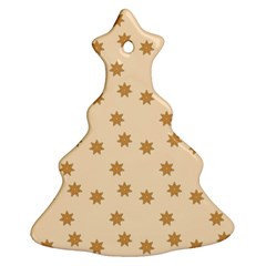 Pattern Gingerbread Star Christmas Tree Ornament (two Sides)