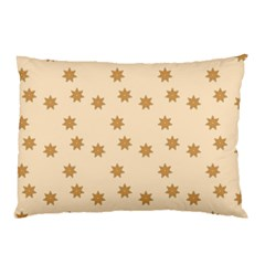 Pattern Gingerbread Star Pillow Case (two Sides)
