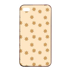 Pattern Gingerbread Star Apple Iphone 4/4s Seamless Case (black)