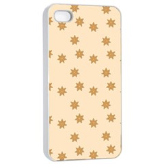 Pattern Gingerbread Star Apple iPhone 4/4s Seamless Case (White)