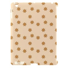 Pattern Gingerbread Star Apple iPad 3/4 Hardshell Case (Compatible with Smart Cover)