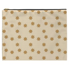 Pattern Gingerbread Star Cosmetic Bag (xxxl)