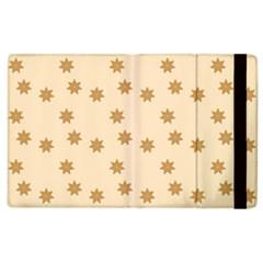 Pattern Gingerbread Star Apple iPad 3/4 Flip Case