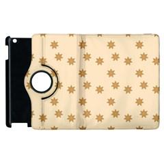 Pattern Gingerbread Star Apple iPad 2 Flip 360 Case