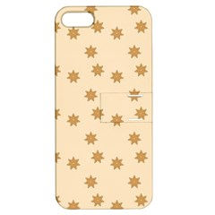 Pattern Gingerbread Star Apple Iphone 5 Hardshell Case With Stand