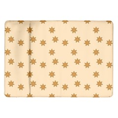 Pattern Gingerbread Star Samsung Galaxy Tab 10 1  P7500 Flip Case