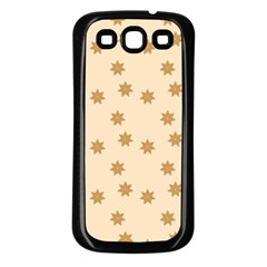 Pattern Gingerbread Star Samsung Galaxy S3 Back Case (Black)