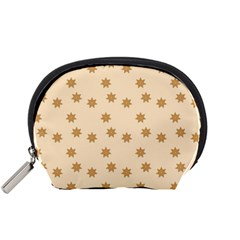 Pattern Gingerbread Star Accessory Pouches (small)