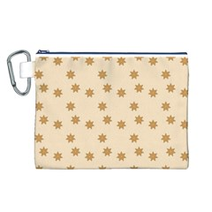 Pattern Gingerbread Star Canvas Cosmetic Bag (l)
