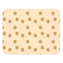 Pattern Gingerbread Star Double Sided Flano Blanket (large)