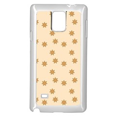 Pattern Gingerbread Star Samsung Galaxy Note 4 Case (White)