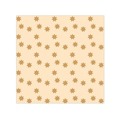 Pattern Gingerbread Star Small Satin Scarf (Square)