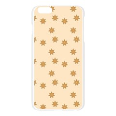 Pattern Gingerbread Star Apple Seamless iPhone 6 Plus/6S Plus Case (Transparent)