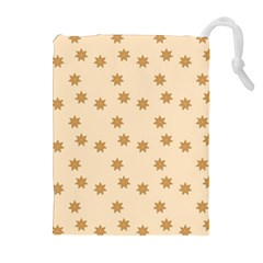 Pattern Gingerbread Star Drawstring Pouches (Extra Large)