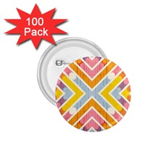 Line Pattern Cross Print Repeat 1 75  Buttons (100 Pack)