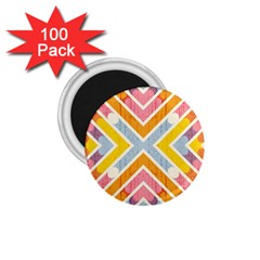 Line Pattern Cross Print Repeat 1 75  Magnets (100 Pack)