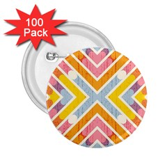 Line Pattern Cross Print Repeat 2.25  Buttons (100 pack)