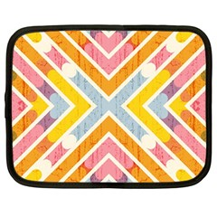 Line Pattern Cross Print Repeat Netbook Case (Large)
