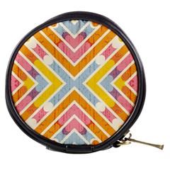 Line Pattern Cross Print Repeat Mini Makeup Bags