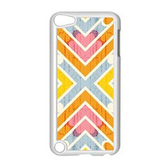Line Pattern Cross Print Repeat Apple iPod Touch 5 Case (White)