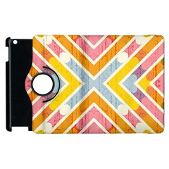 Line Pattern Cross Print Repeat Apple iPad 2 Flip 360 Case
