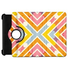 Line Pattern Cross Print Repeat Kindle Fire HD 7