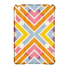 Line Pattern Cross Print Repeat Apple iPad Mini Hardshell Case (Compatible with Smart Cover)