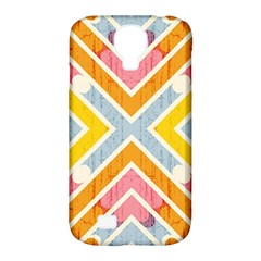 Line Pattern Cross Print Repeat Samsung Galaxy S4 Classic Hardshell Case (pc+silicone)