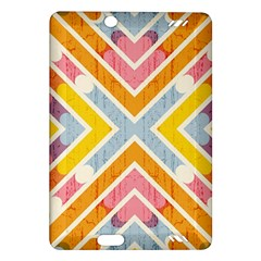 Line Pattern Cross Print Repeat Amazon Kindle Fire Hd (2013) Hardshell Case