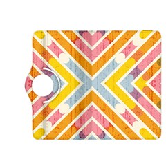 Line Pattern Cross Print Repeat Kindle Fire Hdx 8 9  Flip 360 Case