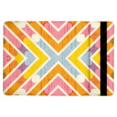 Line Pattern Cross Print Repeat iPad Air Flip