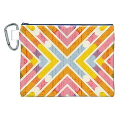 Line Pattern Cross Print Repeat Canvas Cosmetic Bag (xxl)