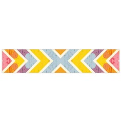 Line Pattern Cross Print Repeat Flano Scarf (small)