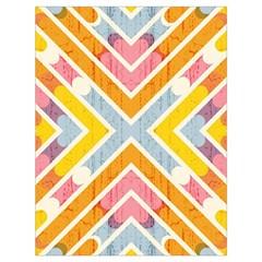 Line Pattern Cross Print Repeat Drawstring Bag (Large)