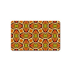 Geometry Shape Retro Trendy Symbol Magnet (Name Card)