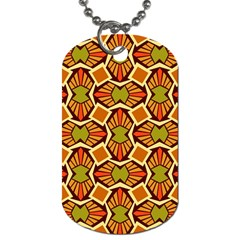 Geometry Shape Retro Trendy Symbol Dog Tag (Two Sides)