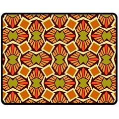 Geometry Shape Retro Trendy Symbol Fleece Blanket (medium)