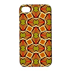 Geometry Shape Retro Trendy Symbol Apple Iphone 4/4s Hardshell Case With Stand
