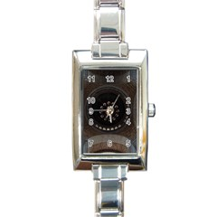 Pattern Design Symmetry Up Ceiling Rectangle Italian Charm Watch