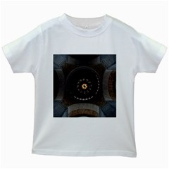 Pattern Design Symmetry Up Ceiling Kids White T-Shirts