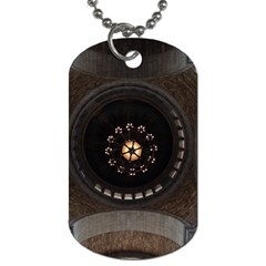 Pattern Design Symmetry Up Ceiling Dog Tag (two Sides)