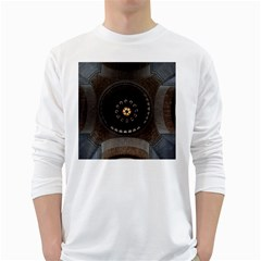 Pattern Design Symmetry Up Ceiling White Long Sleeve T-Shirts