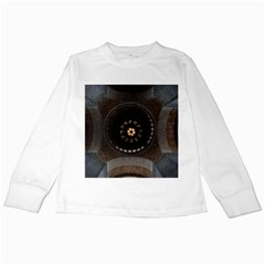Pattern Design Symmetry Up Ceiling Kids Long Sleeve T Shirts