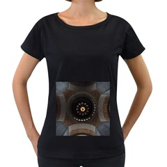 Pattern Design Symmetry Up Ceiling Women s Loose-Fit T-Shirt (Black)