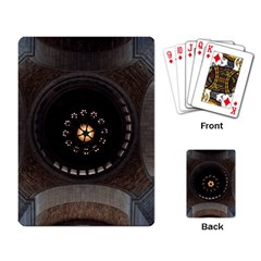 Pattern Design Symmetry Up Ceiling Playing Card