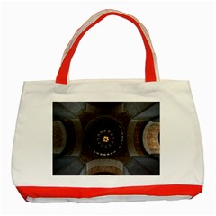 Pattern Design Symmetry Up Ceiling Classic Tote Bag (Red)
