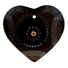 Pattern Design Symmetry Up Ceiling Heart Ornament (two Sides)