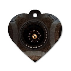 Pattern Design Symmetry Up Ceiling Dog Tag Heart (Two Sides)